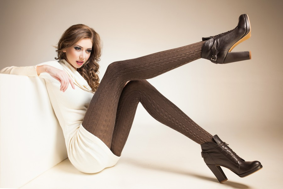 Model with long legs
